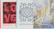 AUS SG3530-2 Special Occasions - Love 2011 self-adhesive set of 3 from booklets (exSB369-71)